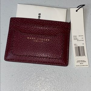NWT Marc Jacobs mulberry Wine credit card holder